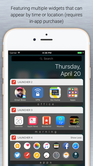 apple iphone launcher launcher with notification center widgets on the app 8116