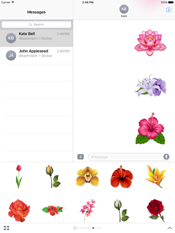 Flowers Pack HD Stickers for iMessage screenshot 8