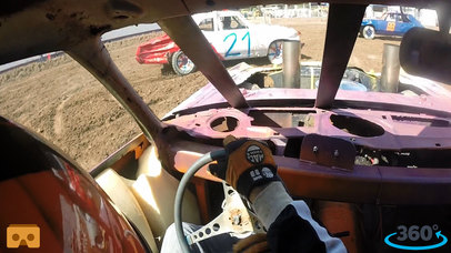 VR Demolition Derby Racing with Google Cardboard screenshot 1