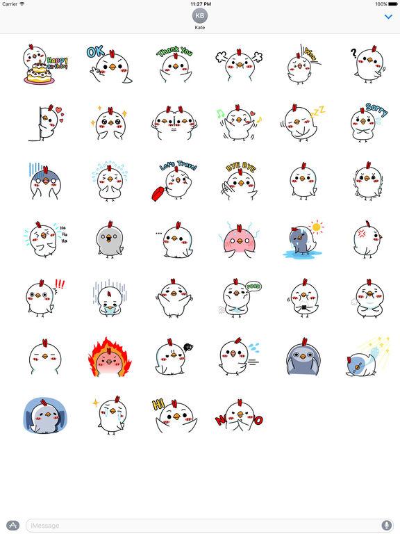 Cutie Little Chicken Stickers screenshot 4