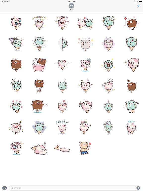 Cute Ice Cream Stickers Pack screenshot 4