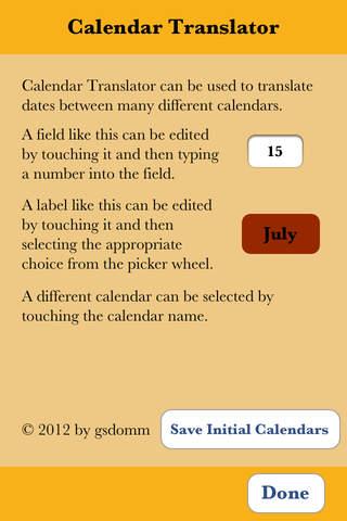 Calendar Translator - náhled