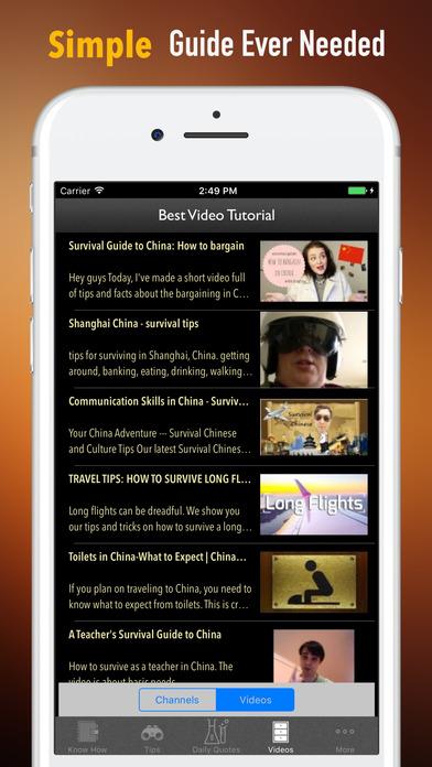 China Survival Tips-Travel Guide screenshot 2
