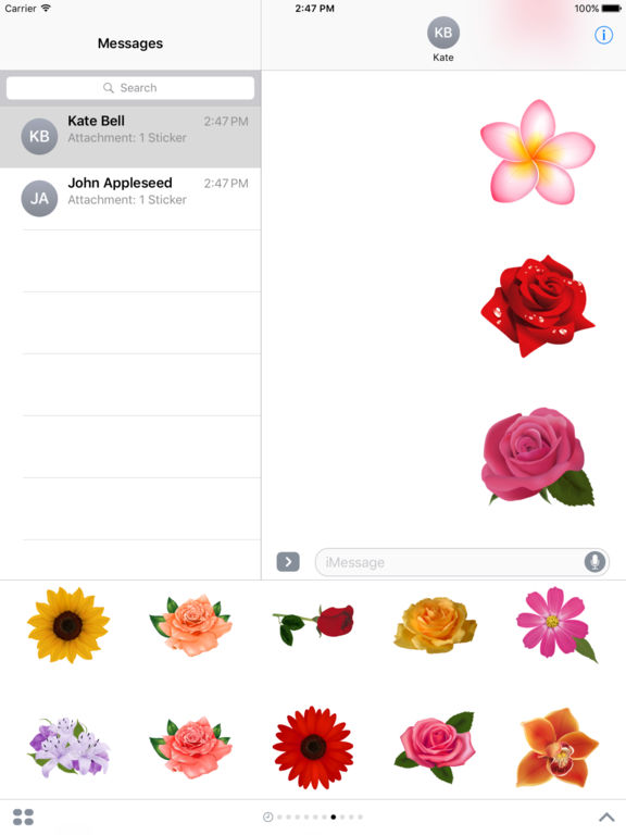Flowers Pack HD Stickers for iMessage screenshot 9