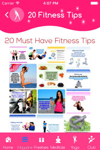 Diet and exercise tips - náhled