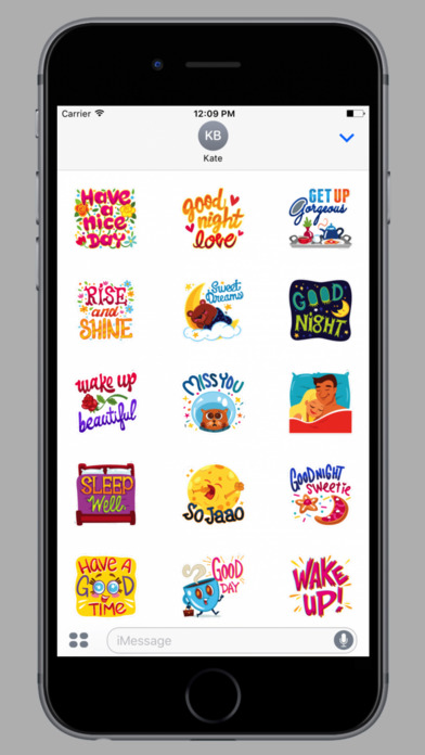 Daily Greetings Stickers screenshot 1