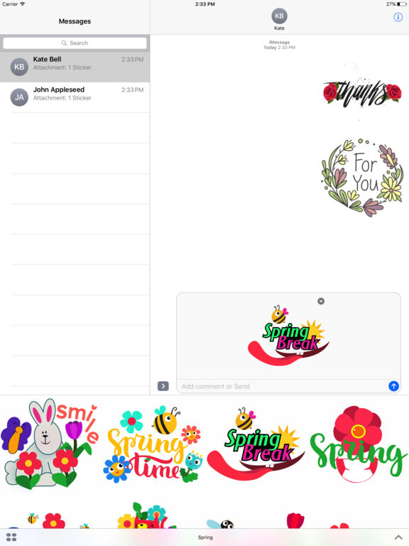 Spring Emoji Stickers for iMessage screenshot 5