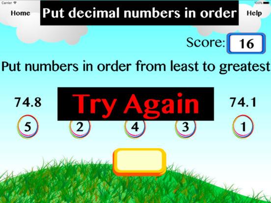 Put decimal numbers in order screenshot 1