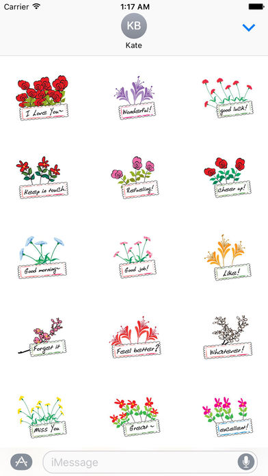Language Of Flowers Sticker Packs screenshot 1