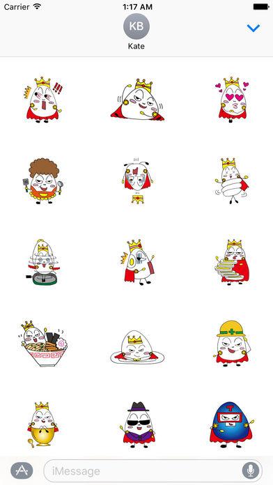 Prince Of Eggs Emoji Sticker screenshot 2