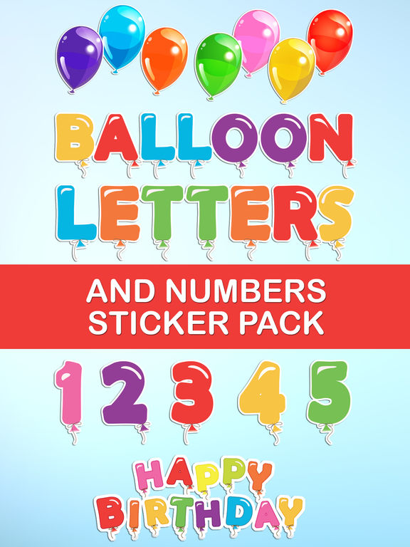 how to rotate iphone video balloon letters and numbers sticker pack 通过 8277