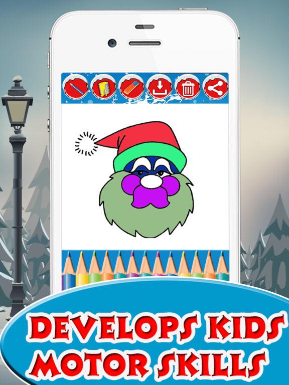 Santa Claus coloring pages screenshot 8