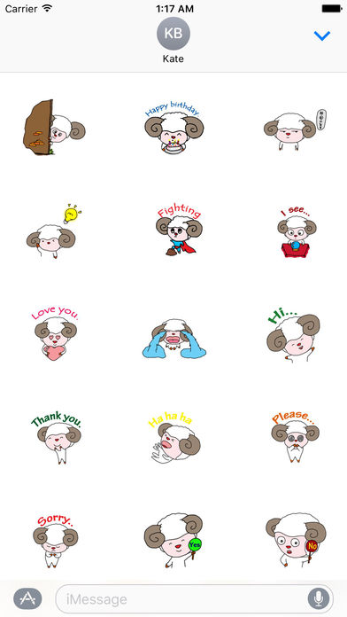 Babe Sheep Stickers screenshot 1