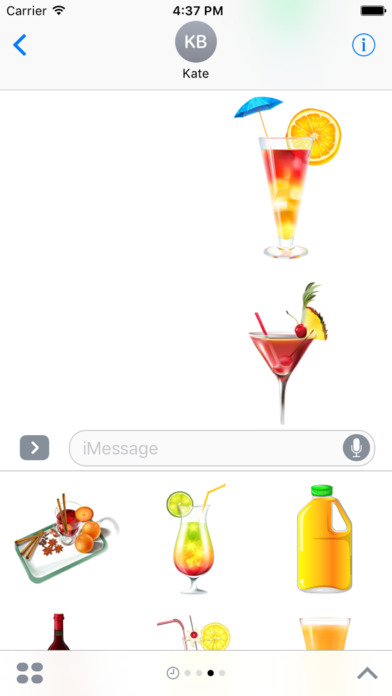 Beautiful Cocktails Stickers for iMessage screenshot 3