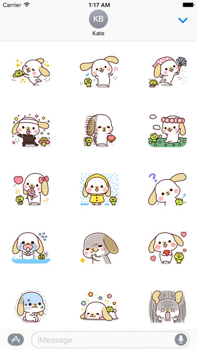 Friendship Of Frog And Rabbit Stickers screenshot 1