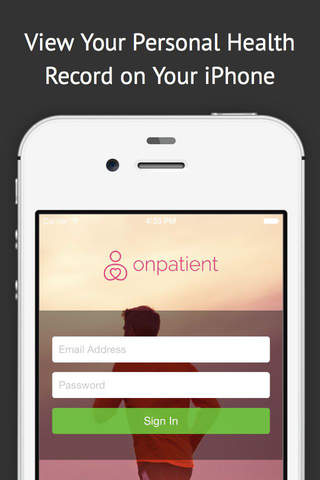 onpatient PHR - Personal Health Record - náhled