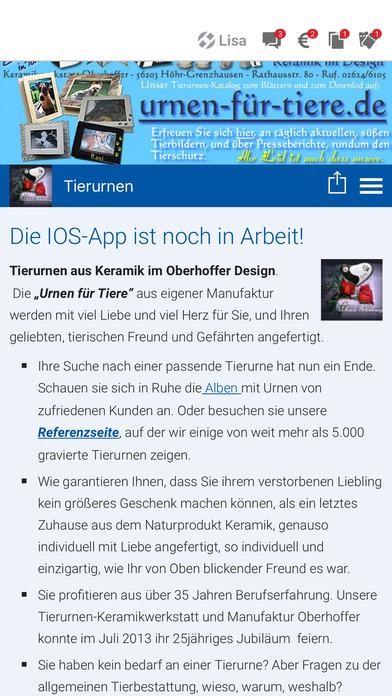 Tierurnen Oberhoffer screenshot 1
