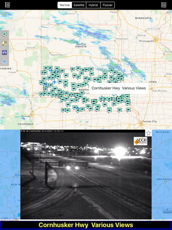 Nebraska NOAA Radar with Traffic Cameras Pro screenshot 6
