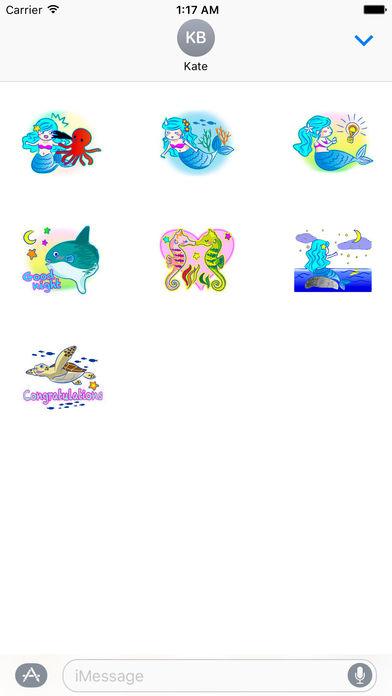 Lovely Mermaid Sticker screenshot 3