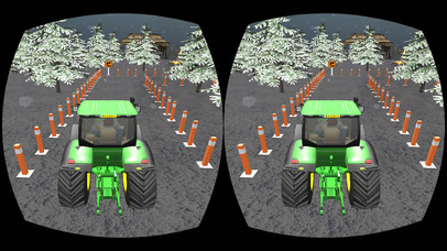 VR Farming Tractor Parking Driver - More Village screenshot 2