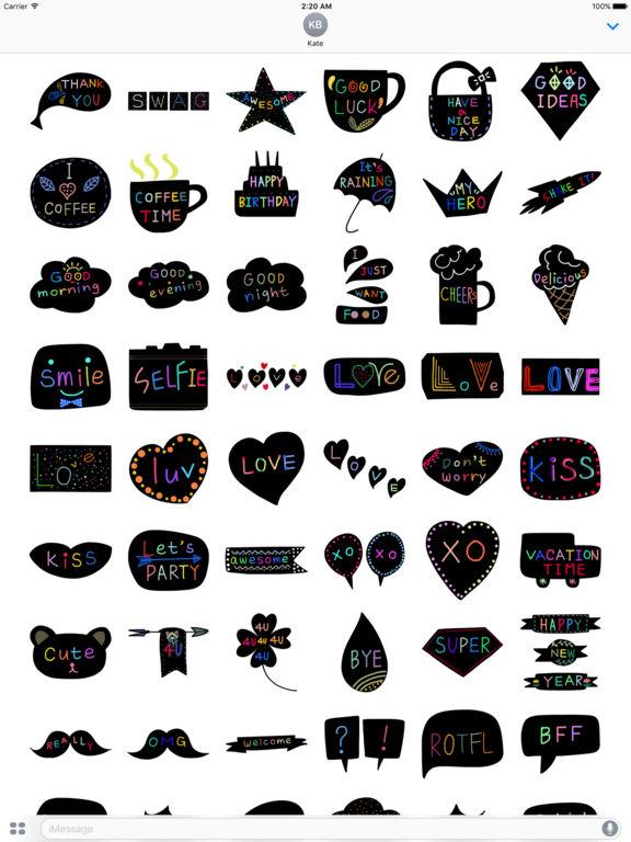 StiPia - BlackChat Stickers screenshot 8
