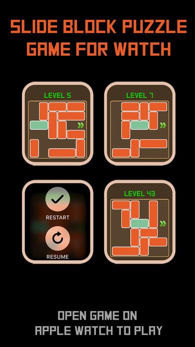 Slide Block Puzzle- Watch Game screenshot 1