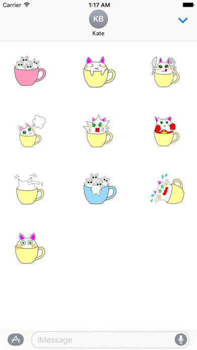 Cute icat Stickers screenshot 3