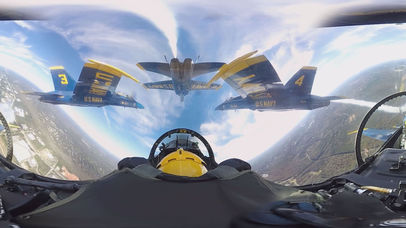 VR Blue Angels with Google Cardboard Edition 360 screenshot 3