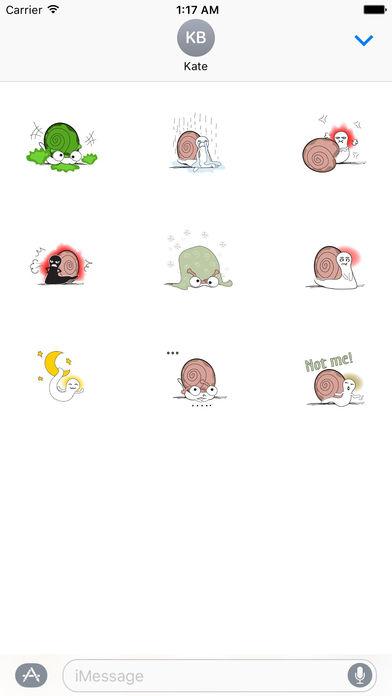 Animated Funny Snail Sticker screenshot 2