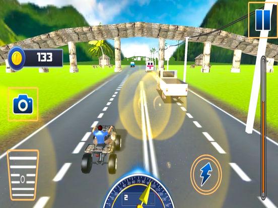 Traffic Quad Bike Rider : End-Less Road Rac-ing 3D screenshot 5