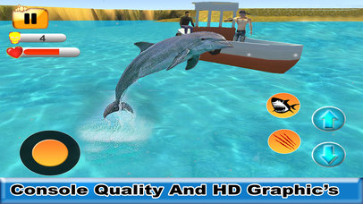 Sea Shark Attack : Eat Swimmers To Complete Level screenshot 4