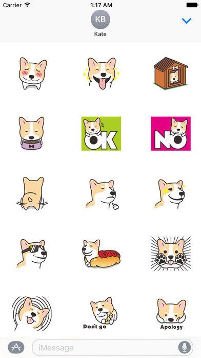 Many A Cute Dog Corgi Stickers screenshot 2