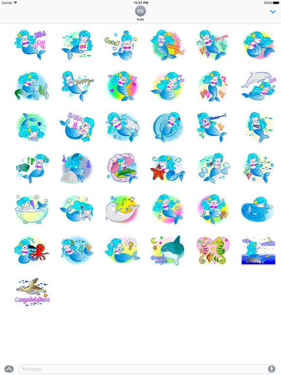 Lovely Mermaid Sticker screenshot 4