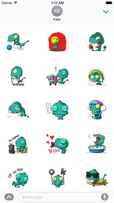 Funny Chameleon Stickers screenshot 2