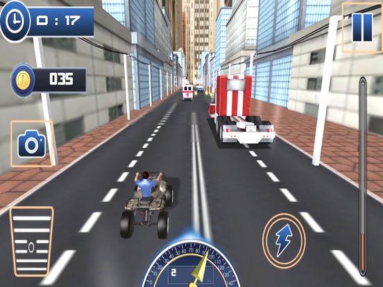 Traffic Quad Bike Rider : End-Less Road Rac-ing 3D screenshot 7