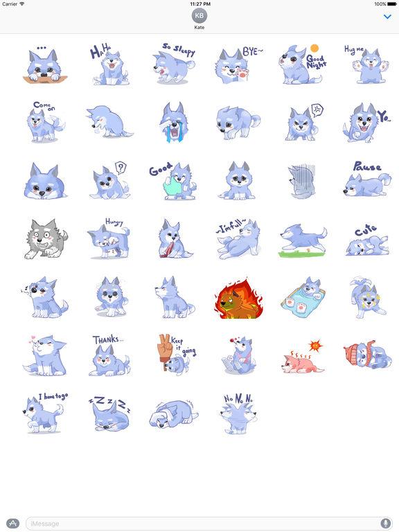 Cute Little Wolf Stickers screenshot 4