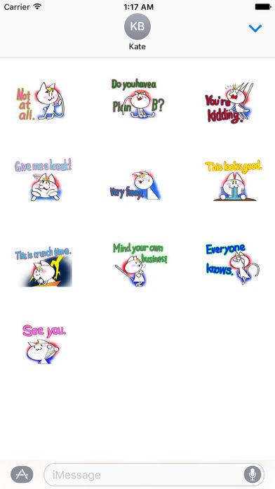Talking Cat Sticker screenshot 3