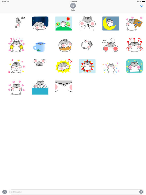 Lazy and Chubby Hamster Animated Gif Sticker screenshot 3