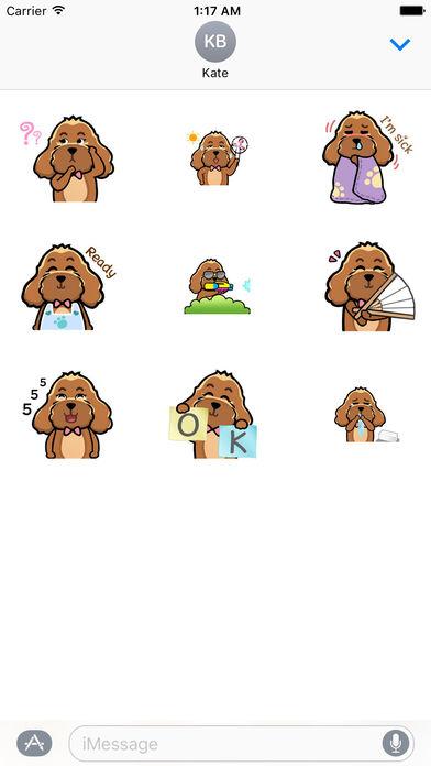 Animated Brown Dog Sticker screenshot 2