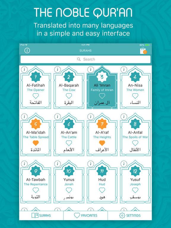 Quran - Audio with Free Translation القرآن (iPad) reviews at