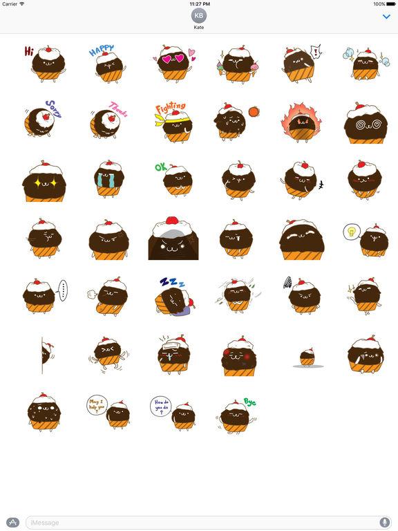 Cute Chocolate Cupcake Sticker screenshot 4