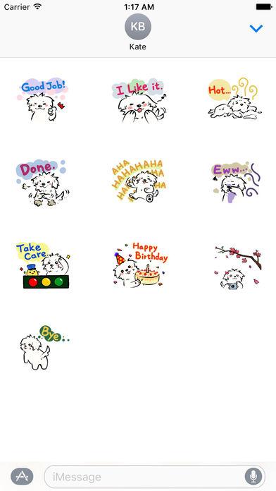 Cute Coton Dog Sticker screenshot 3