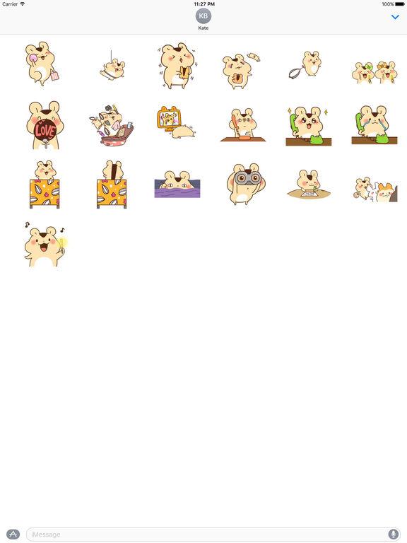 Animated Adorable Hamster Sticker Packs screenshot 3