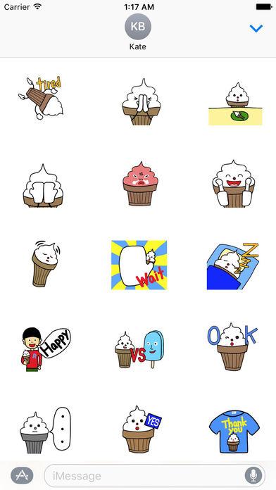 Cute Ice Cream Kid Sticker screenshot 2