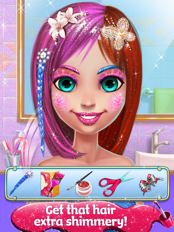 Glitter Makeup - Sparkle Salon Game for Girls screenshot 9