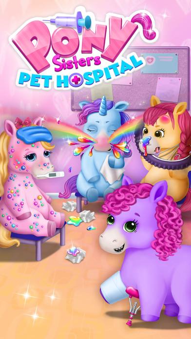 Pony Sisters Pet Hospital - No Ads screenshot 1