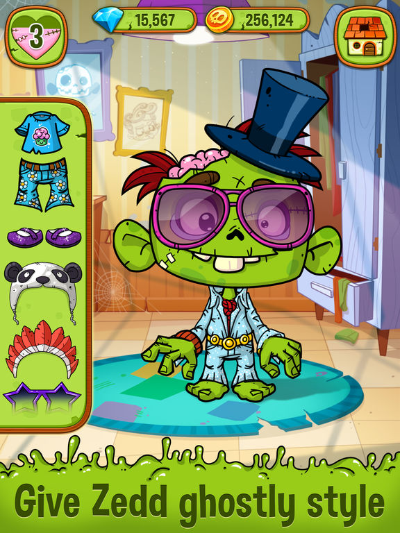 Zedd the Zombie - Grow Your Wacky Friend screenshot 10