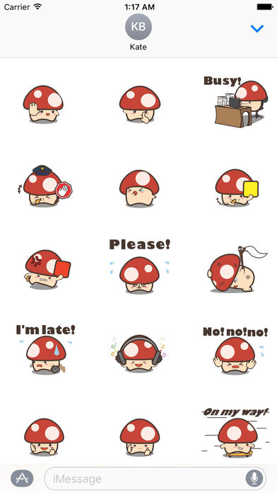 Animated Cute Mushroom Stickers screenshot 1