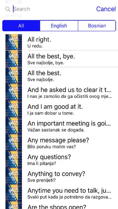 Bosnian Phrases Diamond 4K Edition screenshot 1