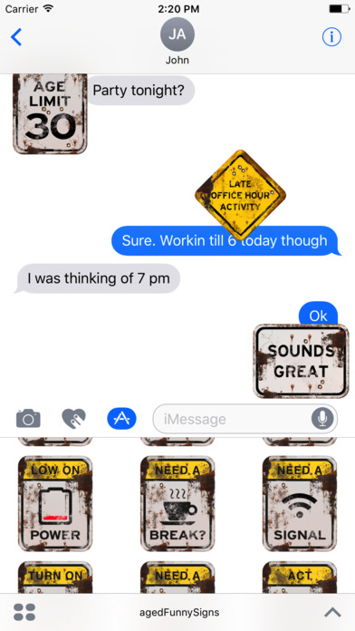 100+ Aged Funny Signs Sticker Pack (Rusty) screenshot 4